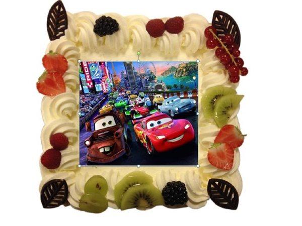 Foto taart vanaf 9 pers. €23,70. Afbeelding kan op elke gewenste taart.