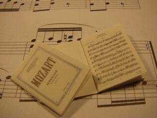 Klassieke muziek partituur Mozart